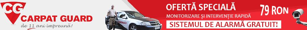 Oferta Monitorizare cu Sistem de Alarma Gratuit de la Firma de Paza Carpat Guard